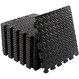 Small Foam Exercise Mats Gym Flooring for Home Gym 18 Protective Foam Floor Mats for Exercise Equipment Interlocking EVA Floor Tiles a Foam Gym Matt Rubber Cushion Workout Mat 12 X 12 Inches