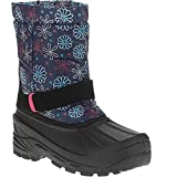 OZARK TRAIL Temp Rated -5 Toddler Girl's Winter Snow Boots Navy Floral Shaft