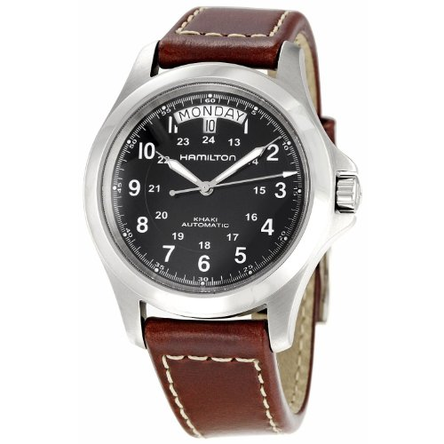 Hamilton Herren Analog Automatik Uhr mit Leder Armband H64455533