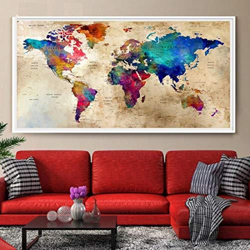 artaslf Grande peinture diamant à faire soi-même Carte du monde mosaïque...