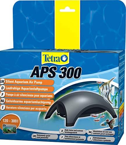 Tetra APS 300 Aquarium Luftpumpe - leise Membranpumpe für Aquarien von 120-300 L, schwarz