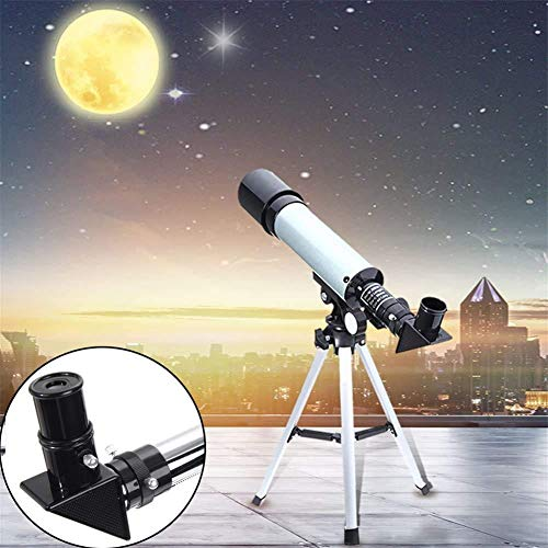 Lukzer 90X Zoom Astronomical Land & Sky Refractor Telescope Optical Glass Metal Tube Tripod Tabletop Nature Exploration Gifts Toys for Kids