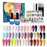Esmaltes Semipermanentes de Uñas Kit Uñas de Gel Uñas de Gel Kit Completo Gel...