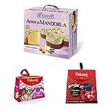 1 Colomba Amor di Mandorla 750 Gr Bauli +in Omaggio 2 Colombe Barbie e Miraculous Paluni con gocce di cioccolato