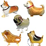Walking Animal Balloons Pet Dog Balloons for Birthday Party Decor 5 Pack