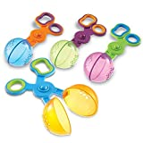 These uniquely designed scoopers allow children to use their thumb, index, and middle fingers to open Build the muscles needed for scissor cutting and writing Holes in scoops allow for catch-and-release fun during water play Set of 4 Handy Scoopers i...