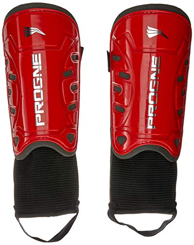 PROGNE SPORTS REF 020 Protective Shin Guard for Football, U, Red