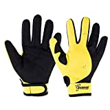 Seavenger Abyss Dive Gloves | 1.5mm Neoprene Mesh | Scuba Diving, Wakeboarding, Spearfishing (Yellow, Large)