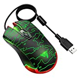 VicTsing Backlit Gaming Wired Mouse, High Up to 5500 DPI, 3 Changeable Breathing Light, 6 Adjustable DPI Levels, 6 Buttons Design, Ergonomic Grips, Compatible Mac OS, Windows, Vista, Linux