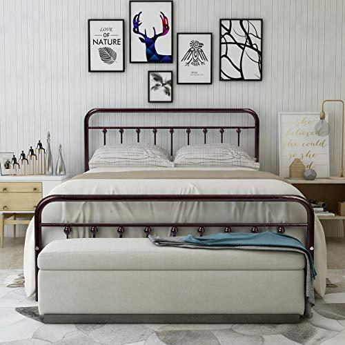 Metal Bed Frame Queen Size Steel Slats P Buy Online In Bahamas At Desertcart