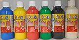 Lot 6 Bouteille Gouache Liquide 250ml - Peinture Loisir créatif - 409