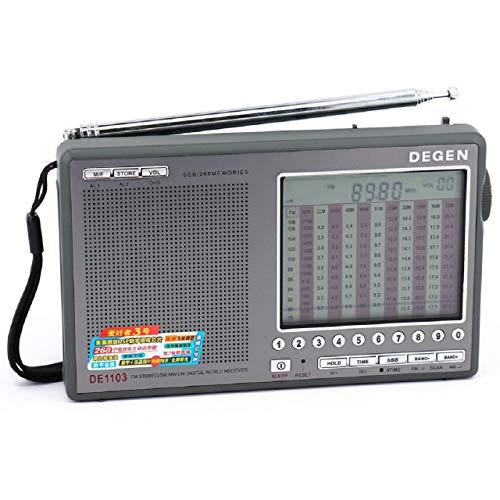 DEGEN DE1103 DSP 短波 AM FM BCLラジオ フルバンドDSP 高感度オールバンドレシーバー 短波ラジオ AC100V対...