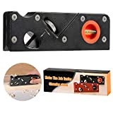 STSUNEU Chamfer Plane for Wood, Professional Woodworking Edge Corner Flattening Tool 45 Degree Portable Woodwork Hand Planer for Quick Edge Trimming Chamfer(Black)