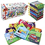 PLAYSHIRE Soft Books (0-3Yrs). Activity Crinkle Books, Non-Toxic Cloth Books Set for Newborns, Infants & Toddler Toys. Interactive Baby Girl & Baby Boy Toys Box. Baby Toys - 6 Books