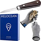 Oyster Shucking Knife and Gloves Set - Premium Oyster Knife and Oyster Shucking Glove Kit - Professional Oyster Shucker Clam Knife Oyster Opener Tool in Lovely Box - Bonus Ebook and Brochure Included