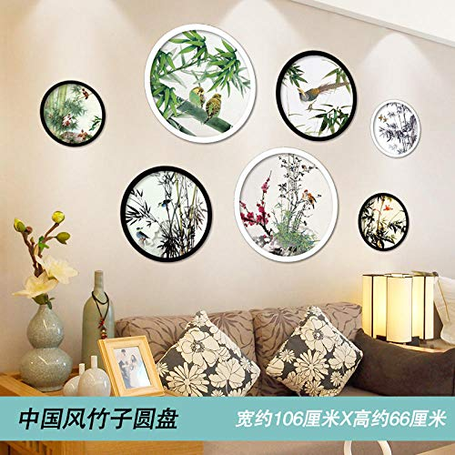 Kreative aufkleber wandaufkleber selbstklebend tv hintergrund tapeten dekorative wandaufkleber- chinesischen stil bambus disc_big