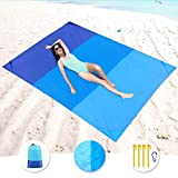 KeShi Sand Free Beach Blanket, Large Oversized Waterproof Sand Proof Beach Mat, Outdoor Lightweight Portable Picnic Mat for Travel, Camping, Hiking and Music Festivals(82' X79')