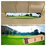 10L0L 16.5' Extra Wide 180 Degree Panoramic Rear View Mirror for Golf...