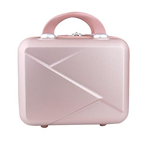 Genda 2Archer Hard Shell Cosmetic Case Mini Hardshell Travel Hand Luggage 14inch (Rose Gold)