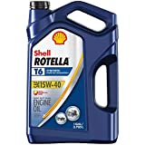 Shell Rotella T6 Full Synthetic 15W-40 Diesel Engine Oil (1-Gallon, Case of 3)