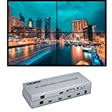 Video Wall Controller 2x2 4K Processor HDMI 1.4 HDCP 1.4 Support 2x2,1x2,1x4 with 1 DVI or HDMI Input 4 HDMI Output