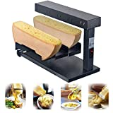 Li Bai Raclette Cheese Melter Machine Commercial Nacho Dispender Electric For 2 Pieces of Half Cheese Wheel Multi-Function Swiss Dish Maker 650W Rapid Heating(750D)