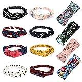 Winpok - 12 diademas para mujer, cintas para el pelo vintage, diademas para mujer, turbante, ...
