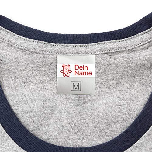 Neu - Namensaufkleber für Kleidung & Sonstiges Kinder (50 Stück) - Namensschilder waschmaschinenfest zum Aufkleben