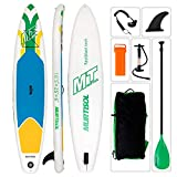 Murtisol 10'5'' Inflatable Stand Up Paddle Board(25 in / 30 in Width), Ultra-Thick Durable PVC, Non-Slip Deck, Premium SUP Accessories, Dual-Action Pump, Safety Ankle Strap, Adjustable Paddle
