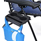 Go Yeah Zero Gravity Multi-Functional Mini Tray with Mobile Device Slot,Cup Holders and Snack Housing for Zero Gravity Leisure Chair