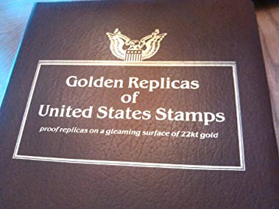Proof replicas on a gleaming surface 22kt gold Replicas of United States Stamps First day issue Stamp with Replicas In a Photo like Album