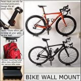 Bike Wall Mount   Horizontal Bicycle Storage Hanger   Indoor Bike Hanging Hook   Heavy Duty Steel Tray, Adjustable Swivel Arm for Pedal Mounting   Mountain, Road Cycle Holder - Garage, Home, Outdoors