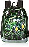 John Deere Boys' Backpack, Black Green