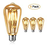 Ampoule Edison , otutun Ampoule LED Vintage Lampe Décorative E27 4W Rétro...