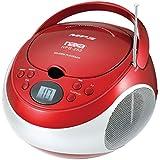 NAXA Electronics NPB-252 RD Portable MP3/CD Player with AM/FM Stereo Radio (Red)