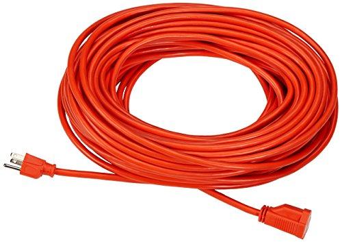 Amazon Basics 16/3 Vinyl Outdoor Extension Cord - Orange, 100 Foot