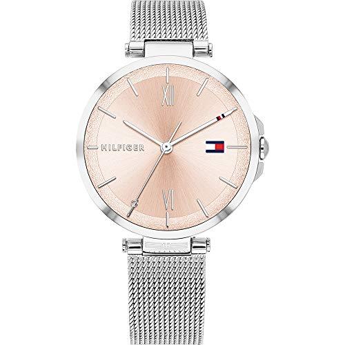 Tommy Hilfiger Damen Analoger Quarz Uhr mit Edelstahl Armband 1782206