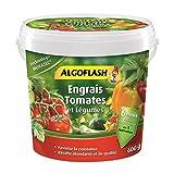 ALGOFLASH Engrais Tomates et Légumes, Action jusqu'à 6 mois, 600 g,...