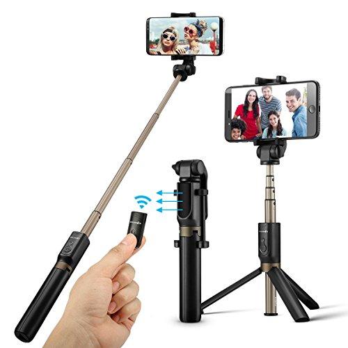 Bâton Selfie Bluetooth, BlitzWolf 3 en 1 Perche Selfie Trépied avec...