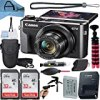 Canon PowerShot G7 X Mark II Digital Camera 20.1MP Sensor with 2 Pack SanDisk 32GB Memory Card, Case, Tripod and A-Cell Accessory Bundle (Black)