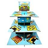 School Bus Cupcake Stand & Pick Kit, School Bus Party Supplies, School Bus Decorations, Birthdays, Cake Decorations, Kids Birthdays, 3 Tier Cardboard