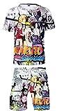 Silver Basic New Ensembles Haut&Shorts Naruto Ninja Manga Tenue de Sport Eté...