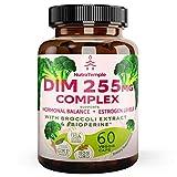 Dim Supplement - Enhanced Absorption with Bioperine - 60 Veggie 255 Mg Diindolylmethane Capsules for Estrogen Metabolism, Hormonal Balance, Menopause Support & Stress Relief Pills