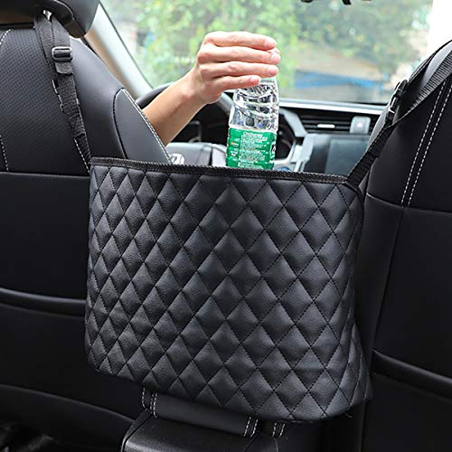 51jyhU9uG2L 【2020 Upgrade High-quality storage】The car storage net bag completely covers the space between the first two seats, allowing you to store extra. Excellent additional storage, can store many items. The mesh bag has good carrying capacity and can be stretched (not including the handbag shown in the picture) 【Simple installation】 Installation of this handbag holder is very simple,no drilling nor stickers required,simple and easy to install,takes less than a minute with the long enough adjustable 2 top and 1 bottom stretchy rope covered over the console amrest box 【COMPATIBILITY】: Mostly compatible with the front opening armrest box, some car consoles don't fit for this item, such as Side Open Armrest Box, No Armrest Box, Double Open Armrest Box, Sports Armrest Box, only limitation is the width between the seats