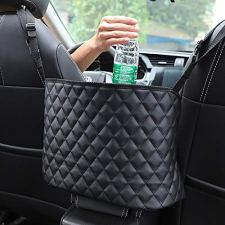 51jyhU9uG2L INCREASE EXTRA SPACE STORAGE - The car handbag holder is a new storage organizer, it not only perfectly covers the interval space between the front two seats, but also utilizes unused space between and behind the front seats as a high-quality storage. This a simple fix to stop your purse or other items from dumping out or rolling around. This car hand bag holder is very convenient to organize and store the items such as phone, tissue, CD, water cup,mp3, charging cable, newspaper, magazine etc. ENSURE SAFE DRIVING - Car pocket handbag organizer can be as a special barrier that prevents naughty kids or pets in the back seat disturbing your daily drives. The handbag holder also helps reduce and prevents distraction while driving by providing easy access to your belongings without taking your eyes off the road. Our car storage bags makes getting your purse so easier, no longer have to ask someone riding in your back seat to hand you purse or some else you want. COMPATIBILITY–Please kindly note before buying. This car pocket handbag organizer compatible with most off-road vehicles, SUV UTV and other vehicles with headrest rod and console. It is not suitable for some car consoles, such as side-opening armrest box, no armrest box, double-opening armrest box, sports armrest box. Our car seat storage organizer could as a great gift for people who usually throw their purses or bags in the backseat and have to search for them when they need them.