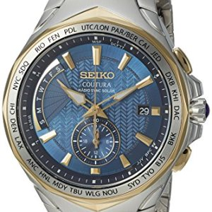 Coutura Men's Radio Sync Solar Dual Time Watch 5