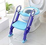 KEPLIN Siège de Toilette Enfant Pliable et Réglable, Reducteur de Toilette Bébé avec Marches Larges, Lunette de Toilette Confortable Matériaux de Haute Qualité (Pourpre)