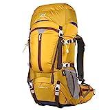 Eshow 50L Sac à dos Randonnée Imperméable Ultraléger pour Homme Femme avec Housse antipluie pour Alpinisme Escalade Trekking Sport Voyage Loisir Camping