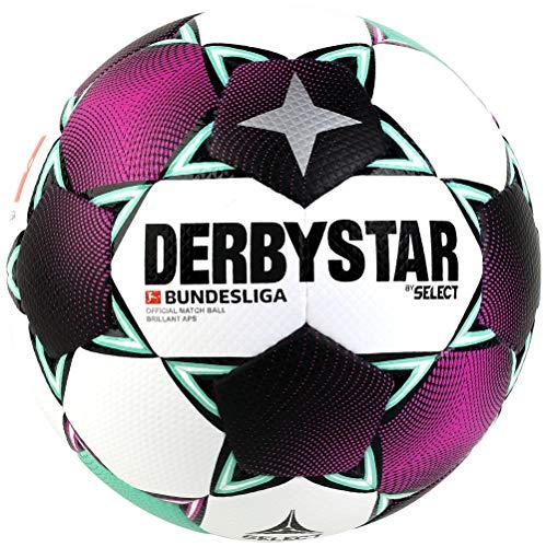 Derbystar Unisex– Erwachsene Bundesliga Brillant APS Fußball, Weiss Magenta Mint, 5