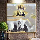 JXFFF (40x40cm No Frame) Lienzo con Pintura por números Misterio Pintura al óleo Cuadro de la Sala de Estar decoración del hogar